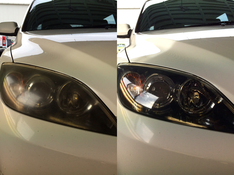 Headlight Restoration Before andAfter